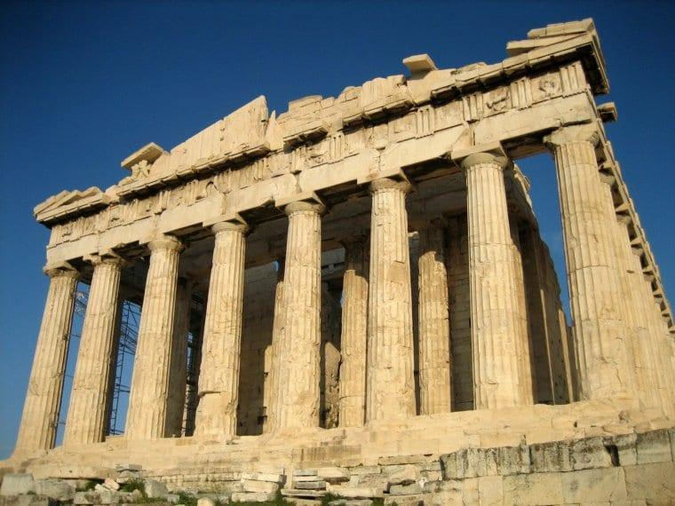 The Parthenon of Athens Greece
