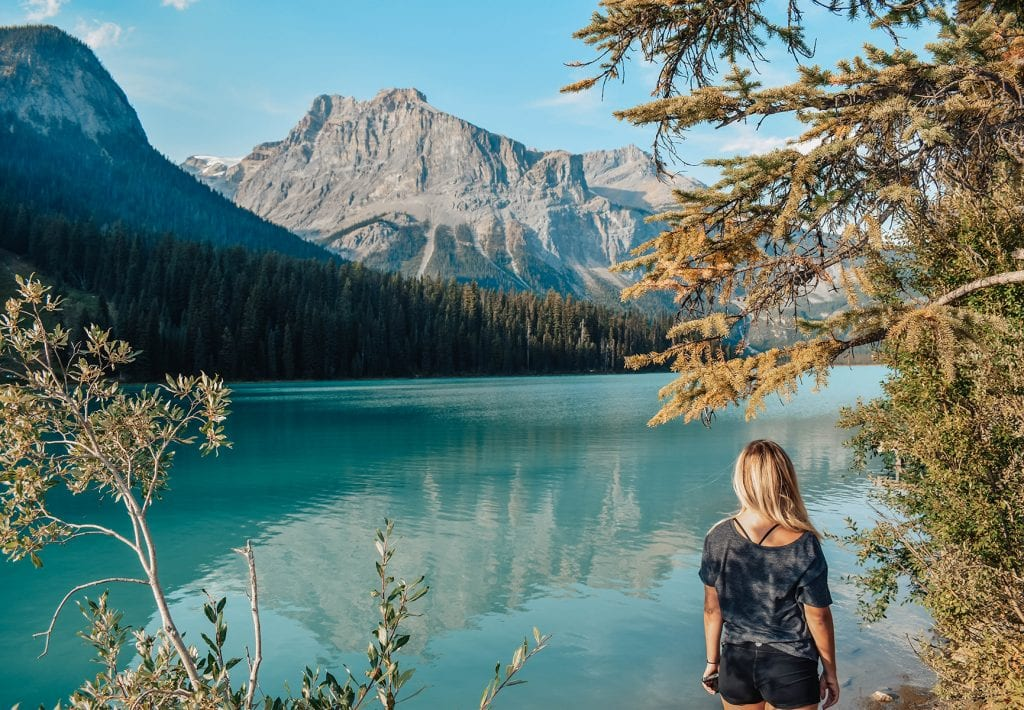 A woman enjoying her time at Yoho National Park in British Columbia, Canada