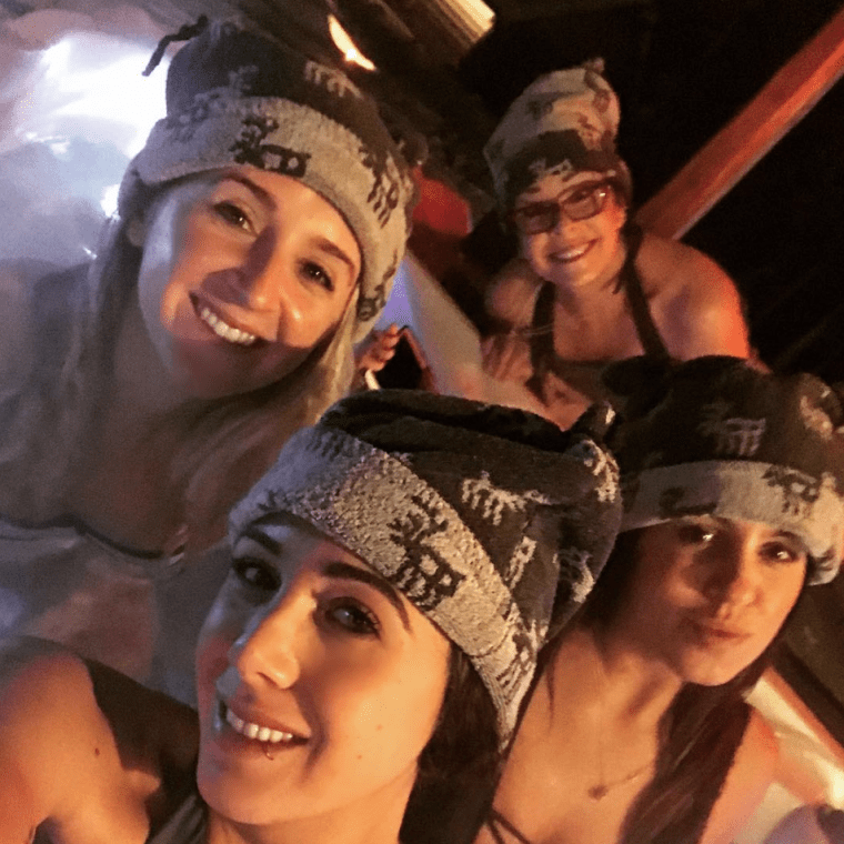 Women enjoying an Arctic spa experience