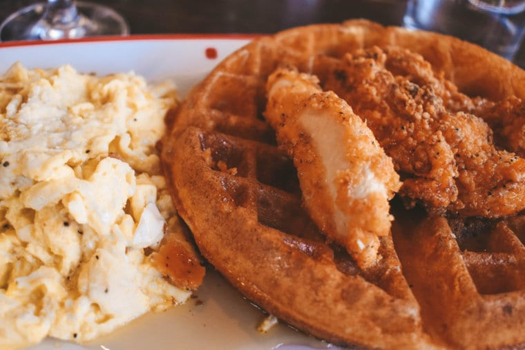 Chicken and waffles from Founding Farmers in DC