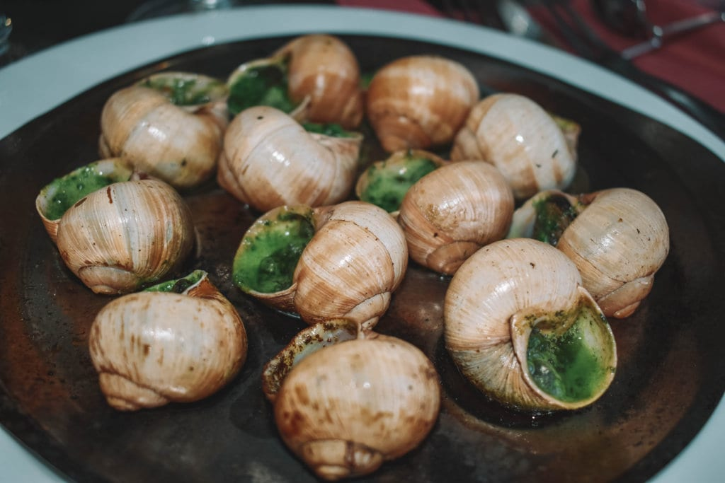 Escargot from Paris, France - a unique signature dish that must be tried