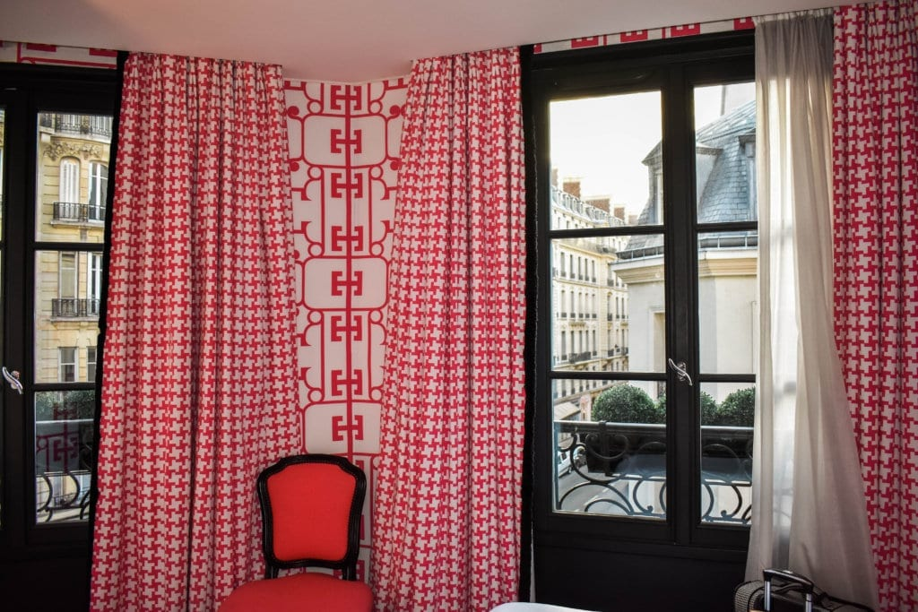 A pretty boutique hotel in Paris, France