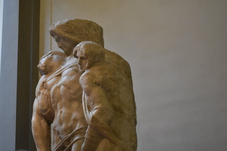 Sculptures from Michaelangelo at the Galleria dell'Accademia