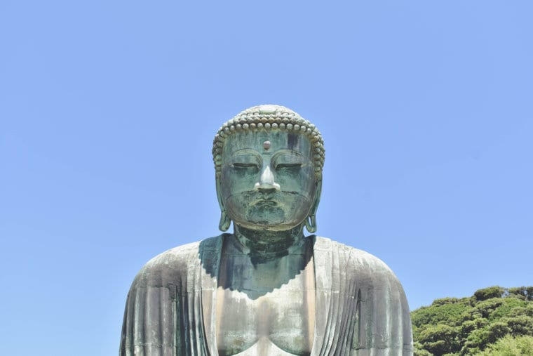 The face of the Great Buddha of Kamakura