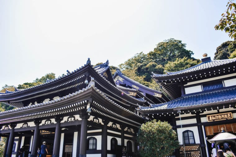 The beautiful Hasedera Temple in Kamakura