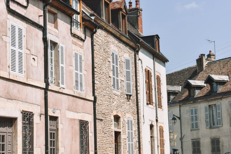 Beautiful buildings in Burgundy, France