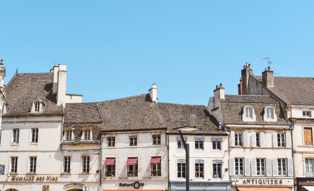 Beautiful French houses in Beaune, France