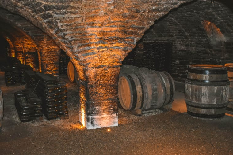 A wine cave at Patriarche Pere et Fils in Beaune