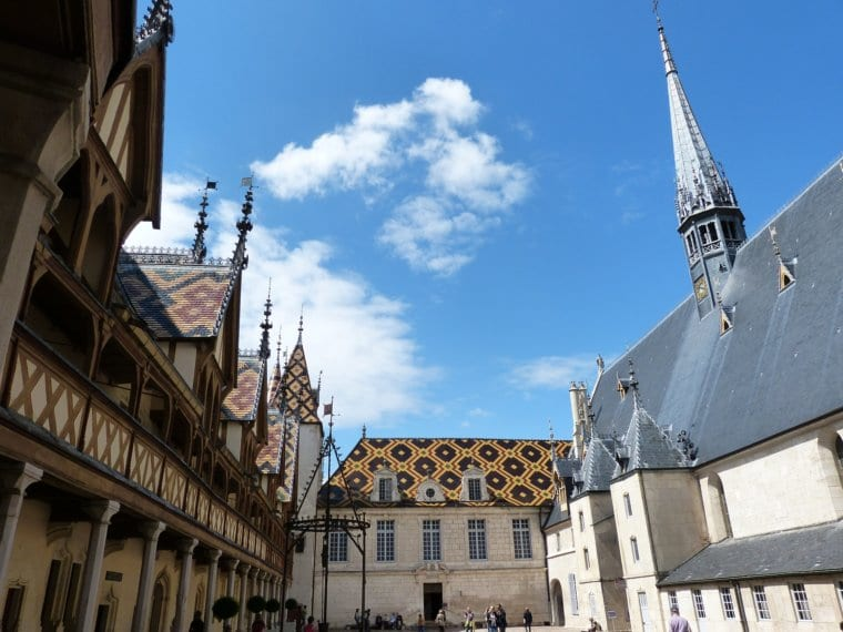 The stunning buildings at Hotel-Dieu in France