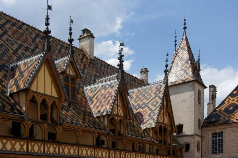 The beautiful Hotel-Dieu in Beaune, France