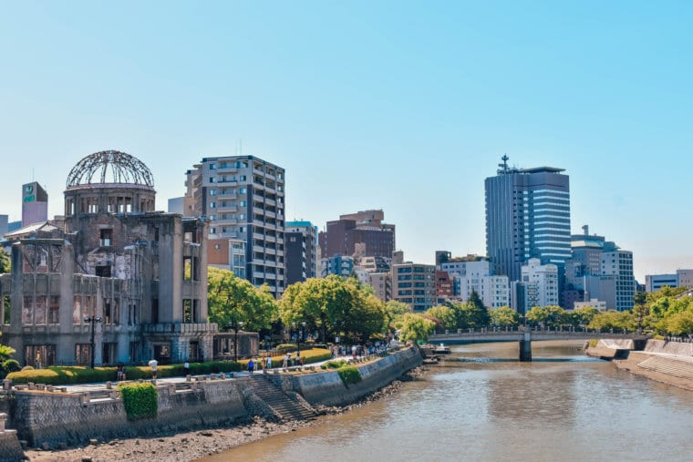 City views of Hiroshima along with the Atomic Dome