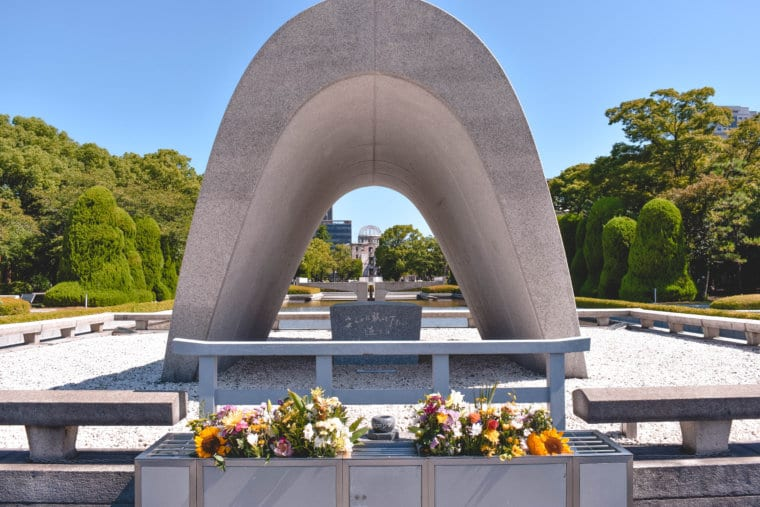 The Memorial Cenotaph in Hiroshima