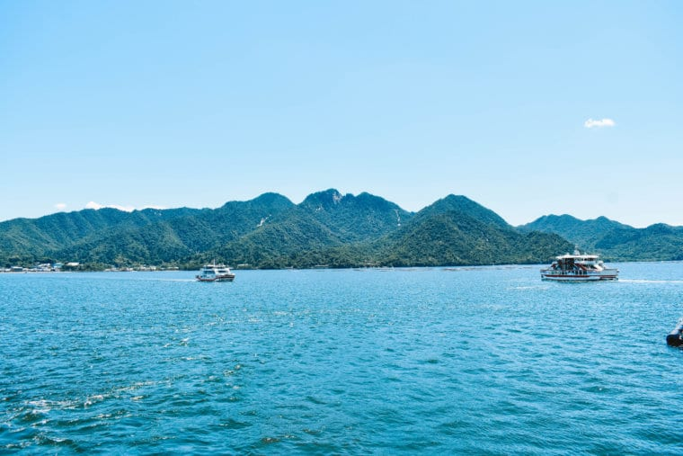 Beautiful views of the island of Miyajima