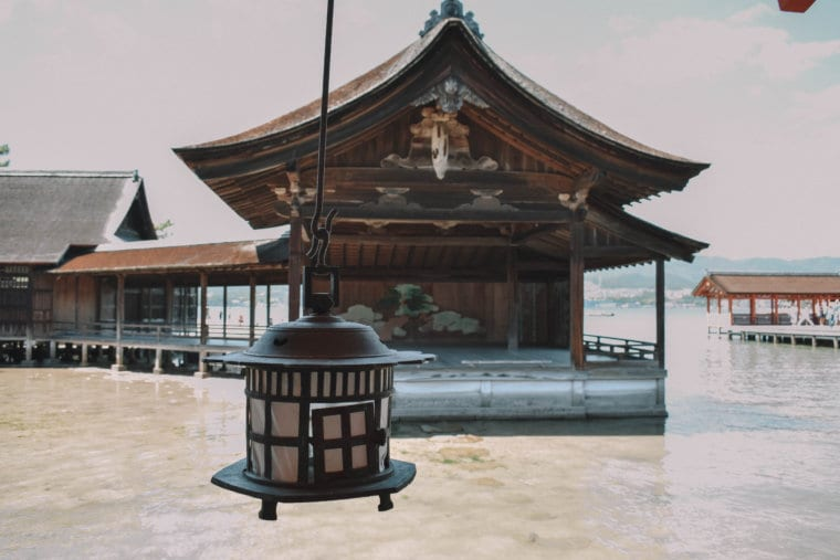 A beautiful building in Miyajima, Japan