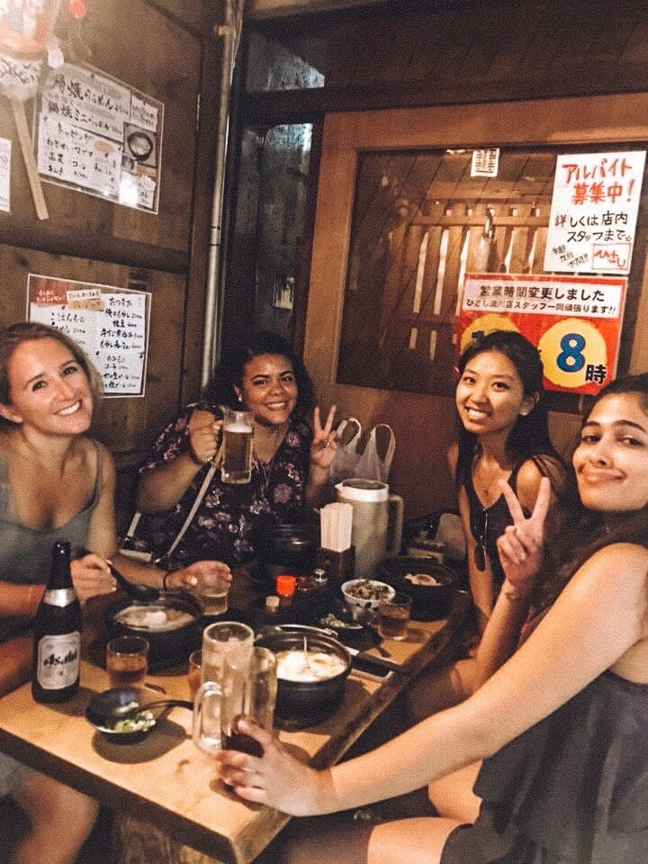 A group of women enjoying ramen in Hiroshima