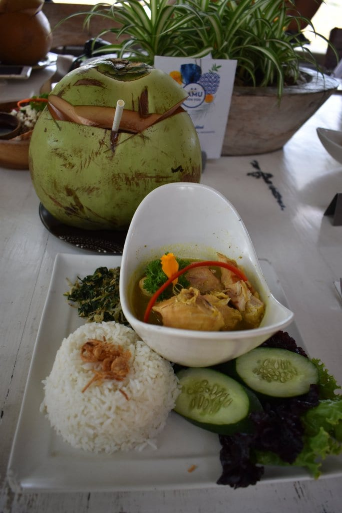 Delicious chicken Indonesian food in Bali