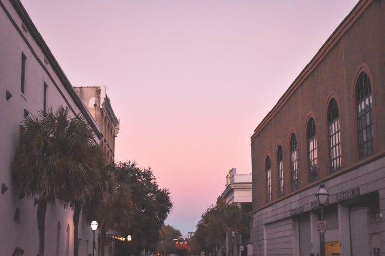 Sunset in Charleston, South Carolina