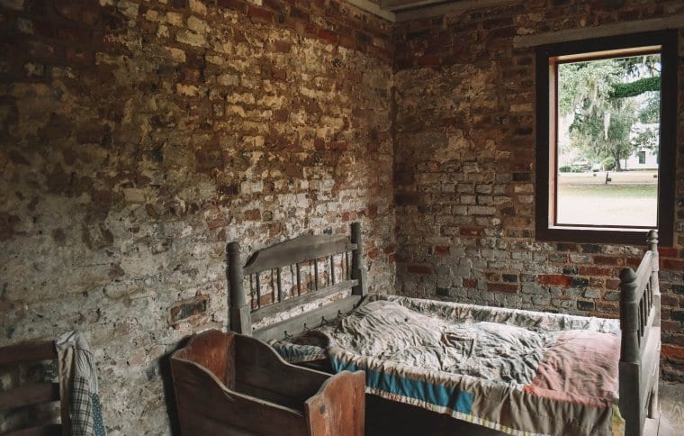 Inside of the Slave Quarters at Boone Hall Plantation