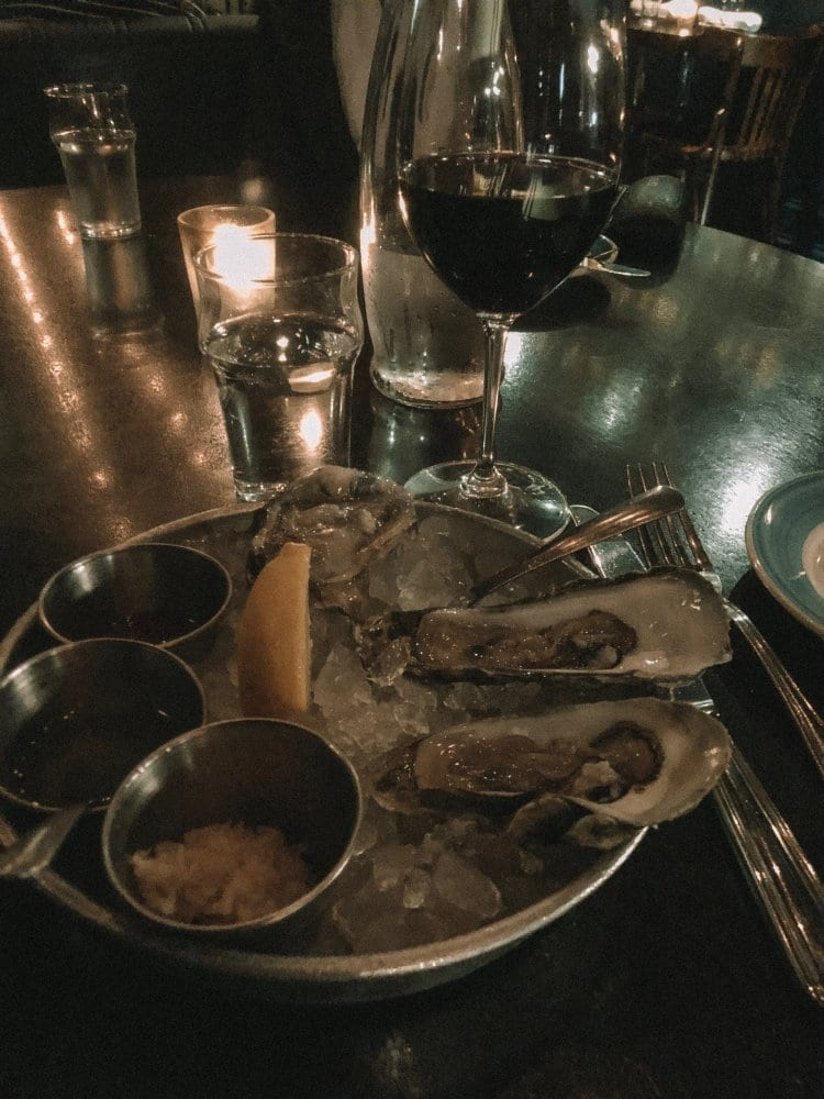 An oyster dinner from Charleston