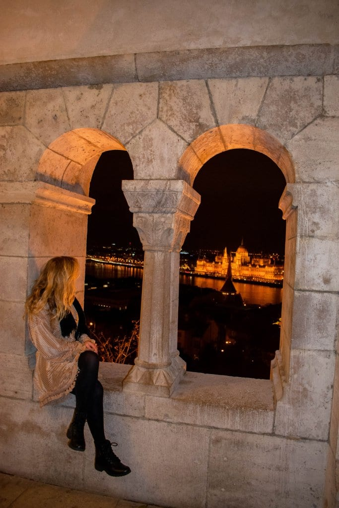 A woman enjoying the views from Fisherman's Bastion
