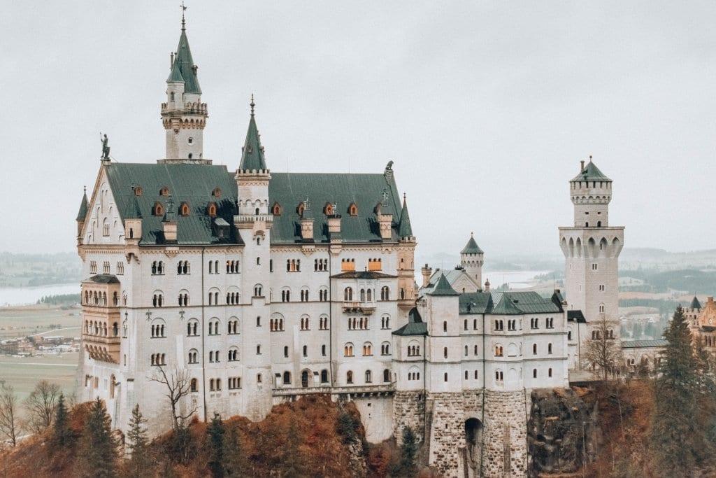 A beautiful view Neuschwanstein Castle in Bavaria, Germany