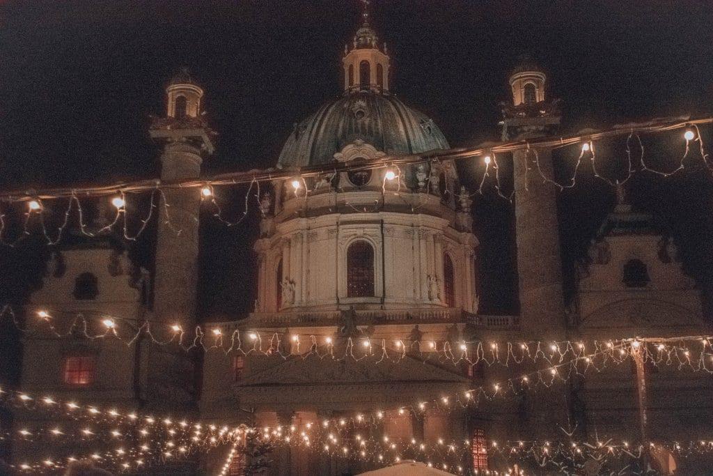 Christmas market at Karlsplatz in Vienna