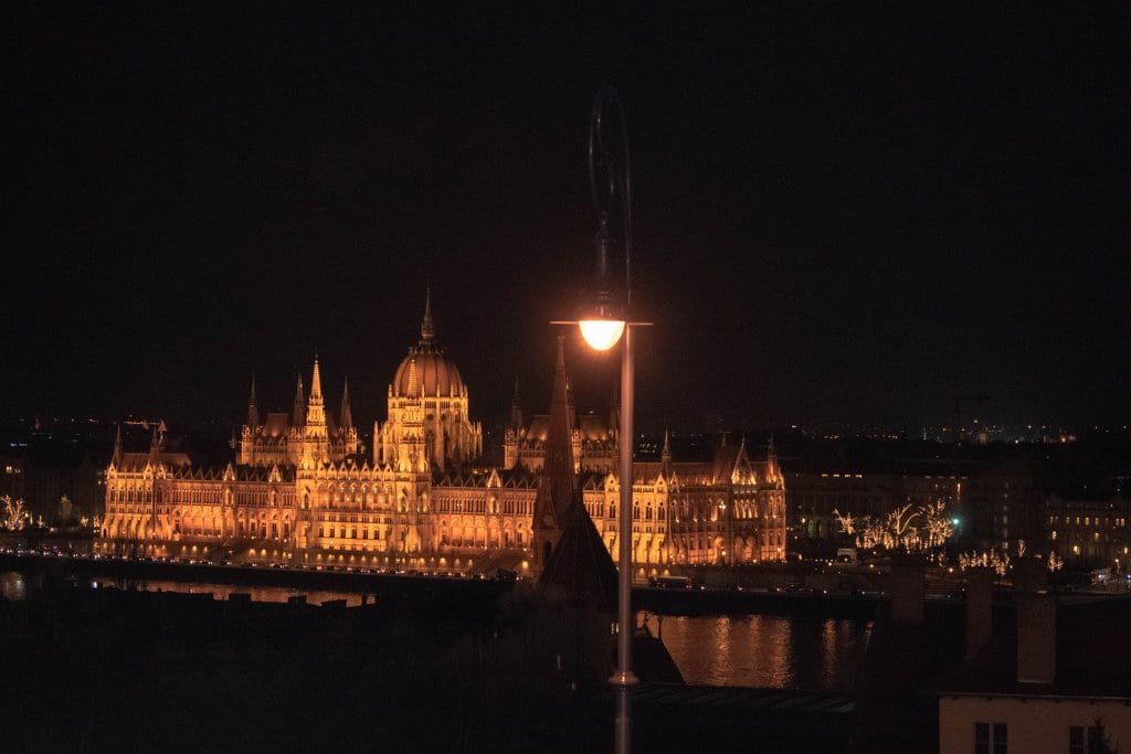 Views of the Budapest Parliament Building at Night