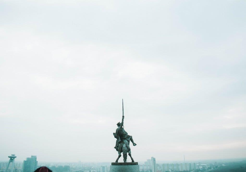 A statue in Bratislava