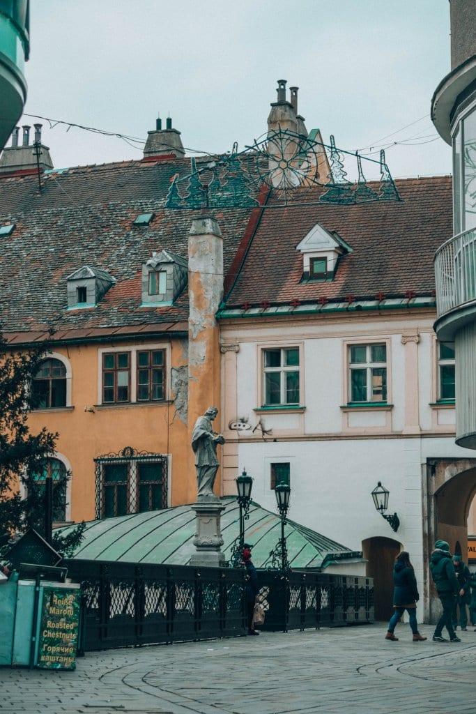 Beautiful buildings in Bratislava, Slovakia