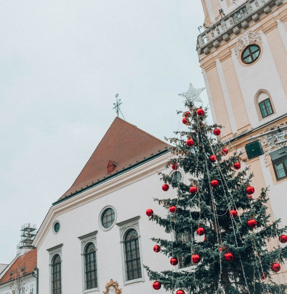 Old Town Hall in Bratislava during Christmastime