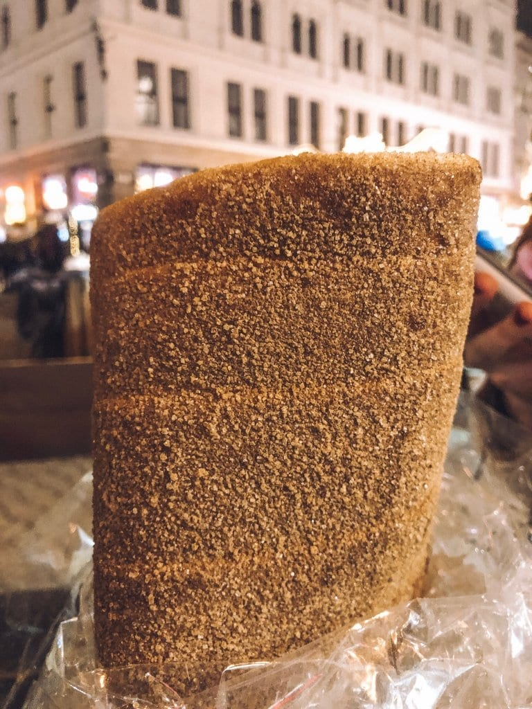 A chimney cake from the Budapest Christmas markets