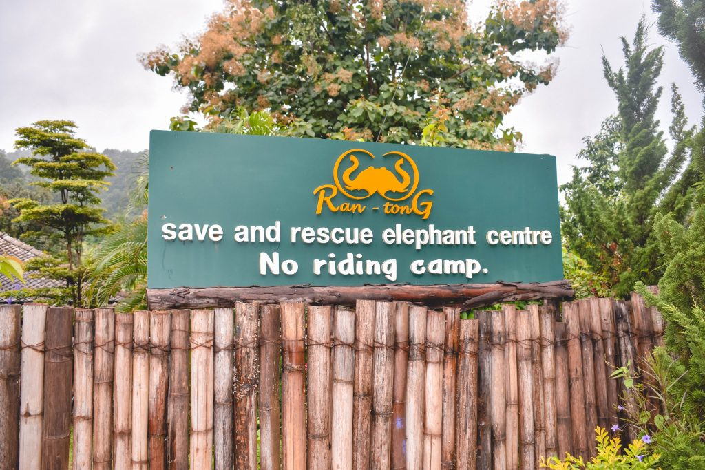 Ran-tong Elephant Save & Rescue Center sign