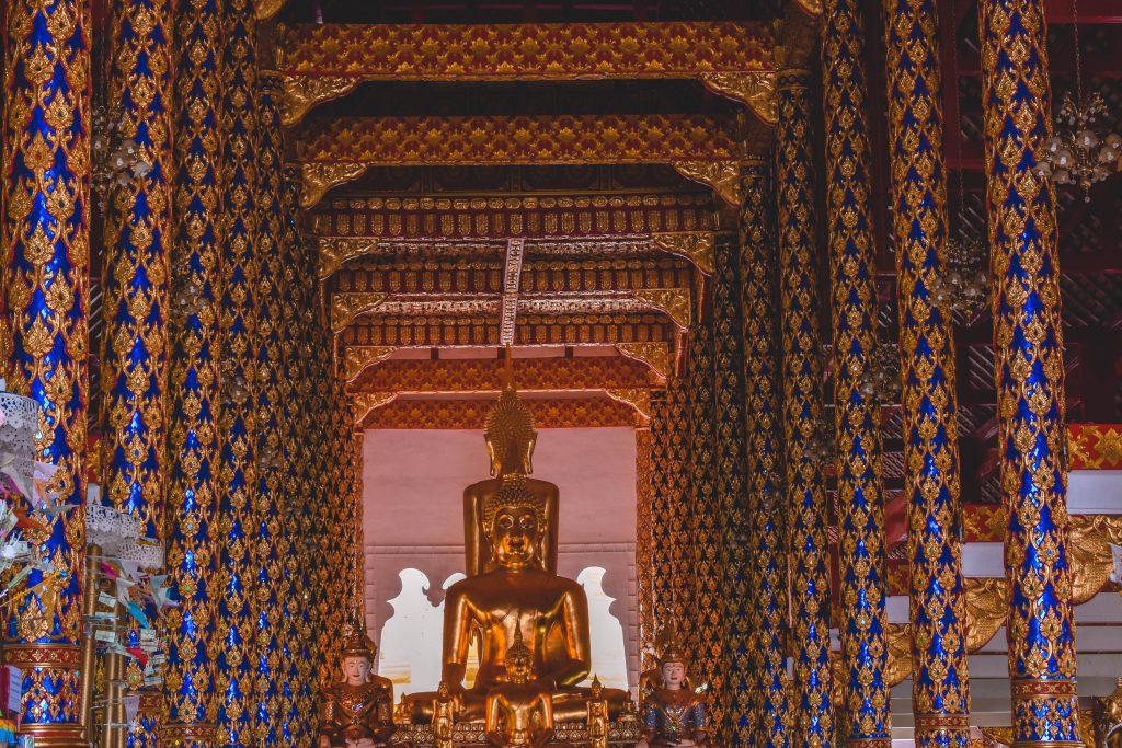 A beautiful gold Buddha in Chiang Mai