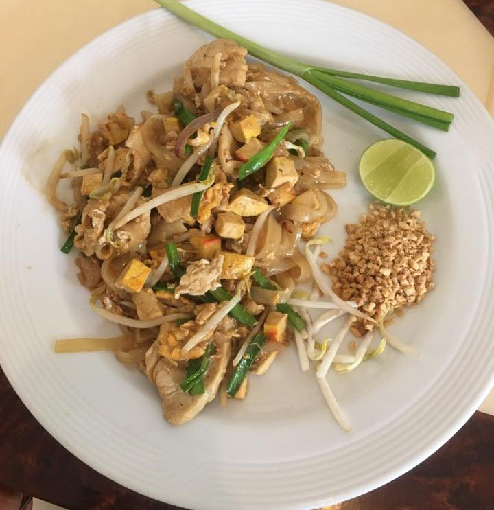 Chicken pad Thai from Bangkok, Thailand