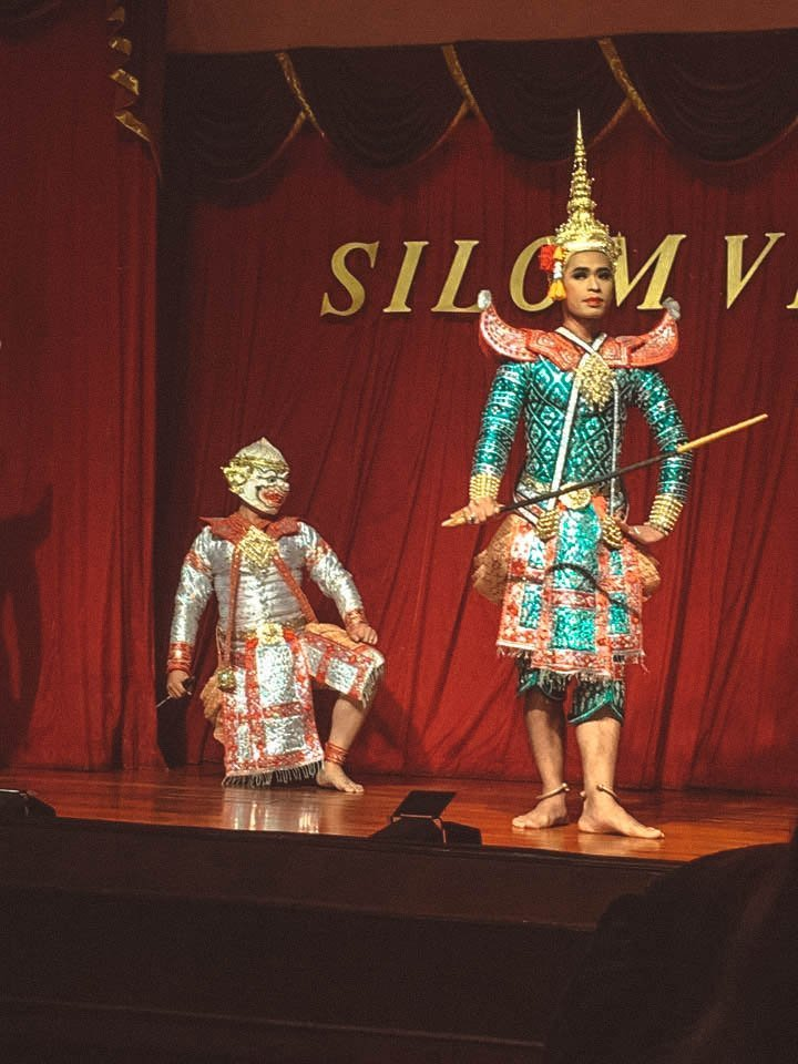 The beautiful costumes from an authentic Thai dinner show