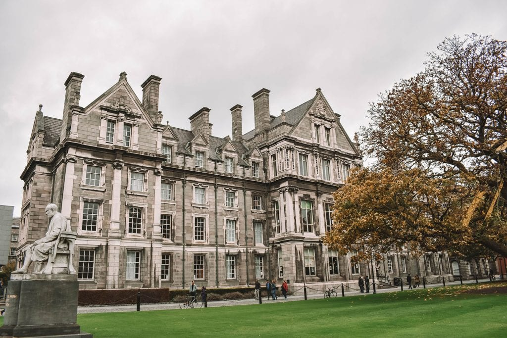 A beautiful fall day at Trinity College in Dublin