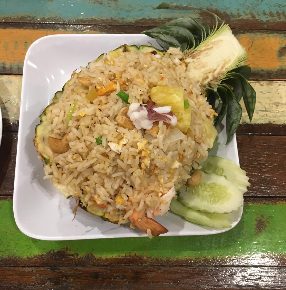 A delicious seafood pineapple fried rice from Koh Samet, Thailand