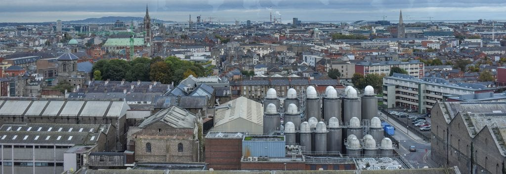 Views from Gravity Bar at the Guinness Storehouse