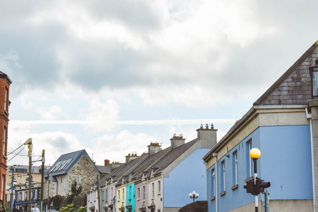 Colorful houses on Howth island
