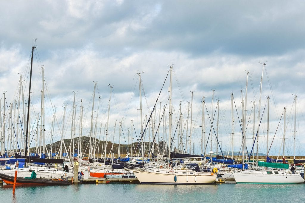 Gorgeous boats in Howth