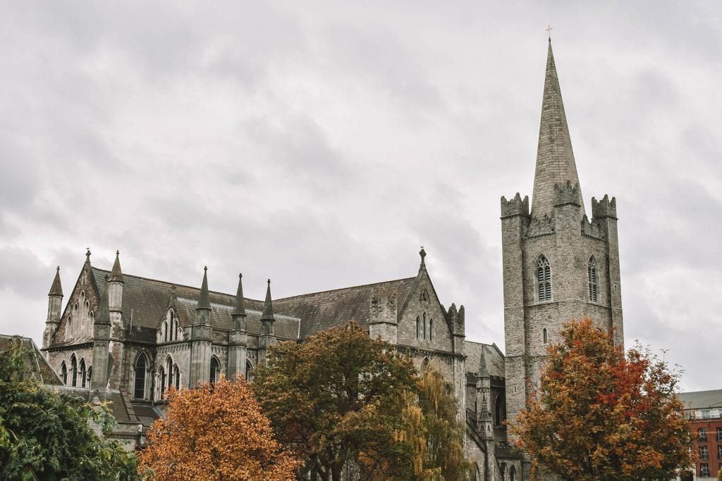 Autumn by the St. Patrick's Cathedral in Dublin