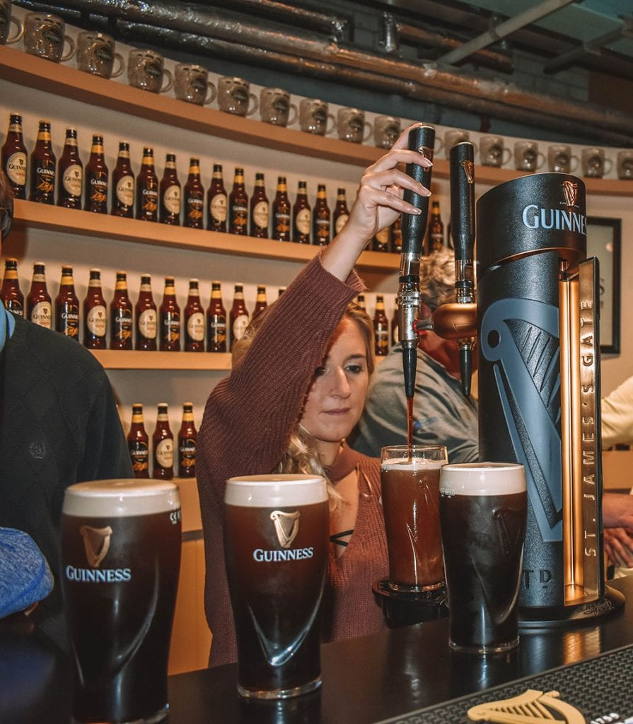A woman enjoying one of the best experiences in Dublin
