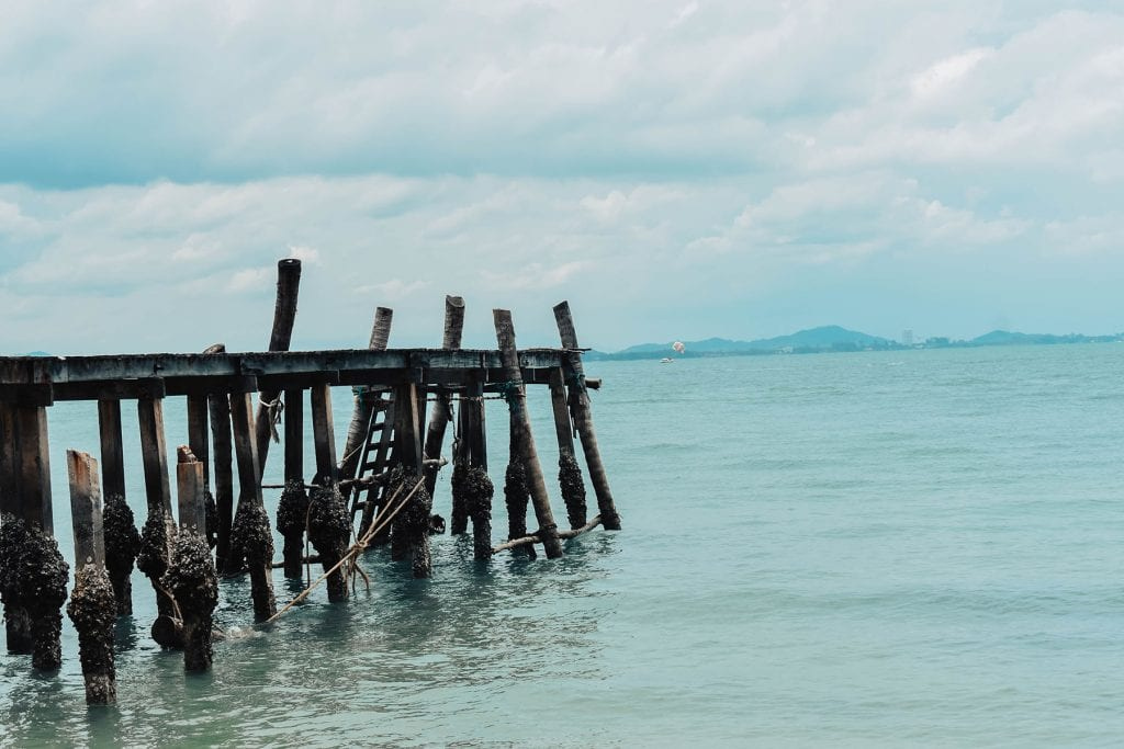 A pier on the Gulf of Thailand in Koh Samet, Thailand