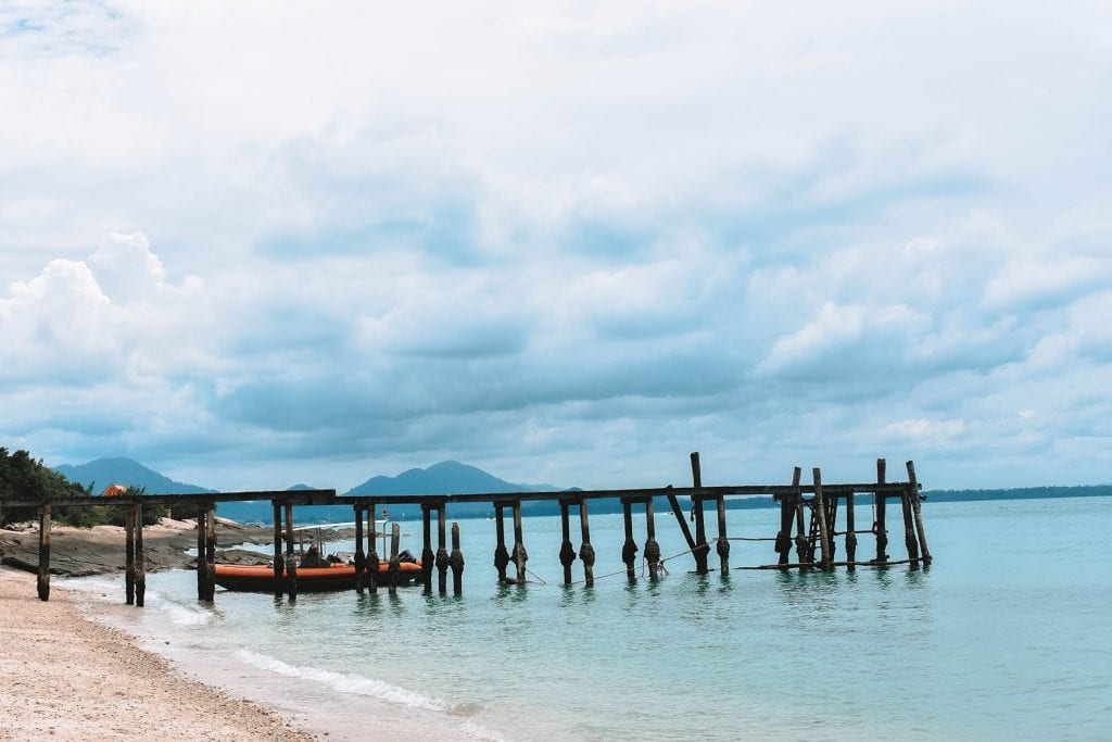 A picturesque view of a pier in Koh Samet, Thailand