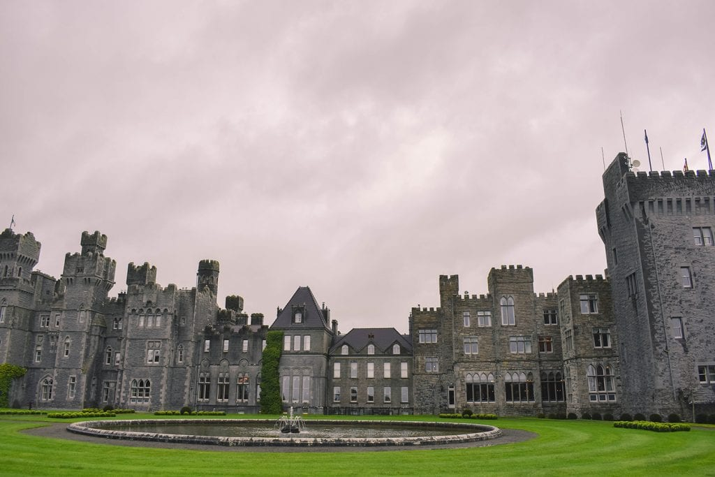 The historical Ashford Castle of Cong, Ireland