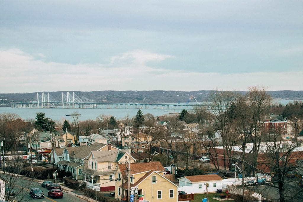 Beautiful views of Nyack and the Tappan Zee Bridge in the Hudson Valley, New York
