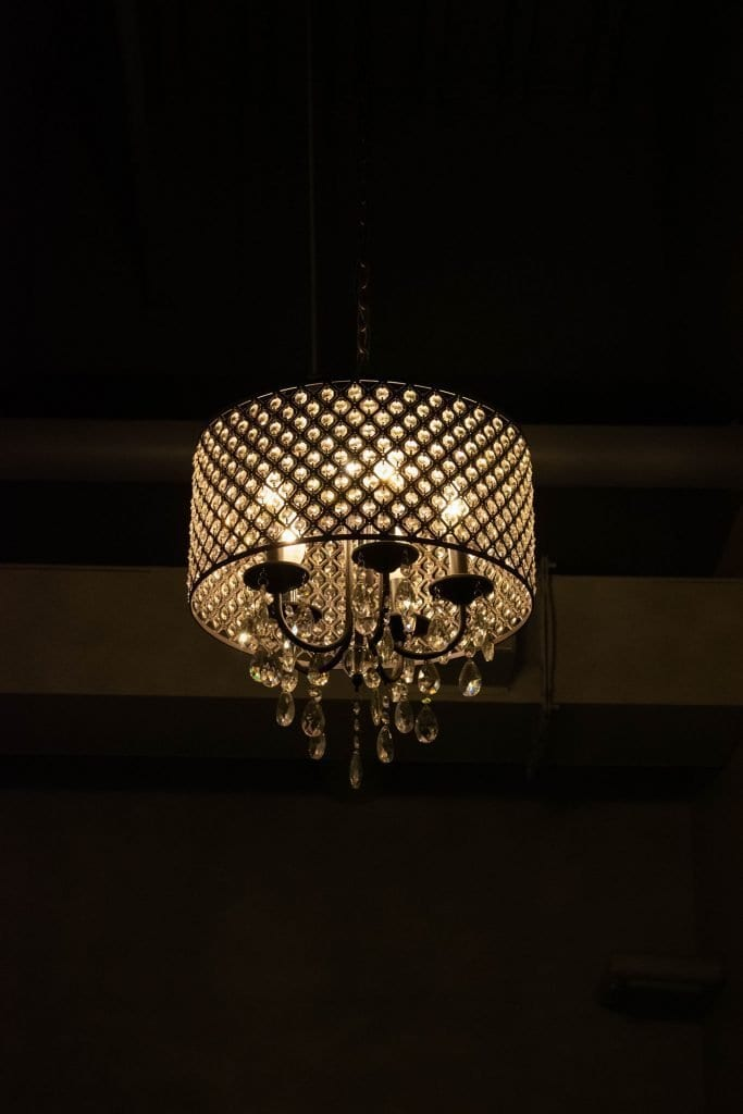 A beautiful chandelier at The Time Hotel in Nyack, New York