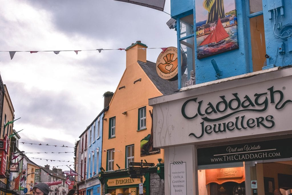 A claddagh jewelry shop in Galway, Ireland
