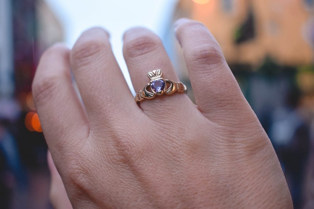 A beautiful Claddagh ring from Galway, Ireland