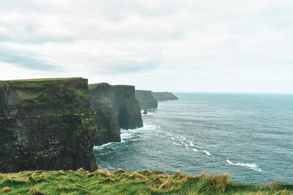 Beautiful views of the Cliffs of Moher in County Clare, Ireland